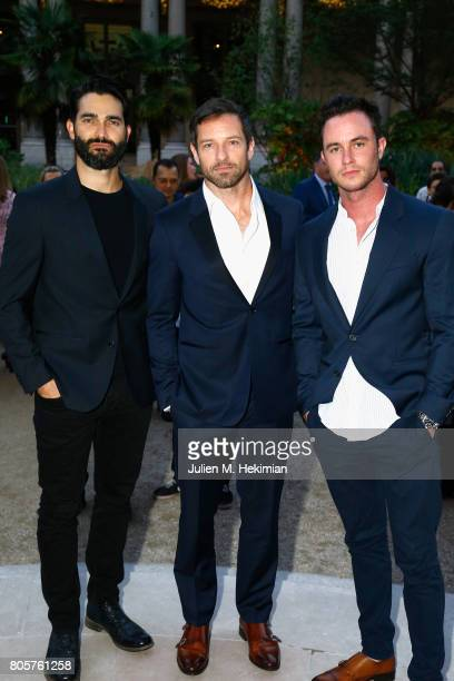 Tyler Hoechlin Ian Bohen and Ryan Kelley attend the amfAR Paris Dinner 2017 at Le Petit Palais on July 2 2017 in Paris France