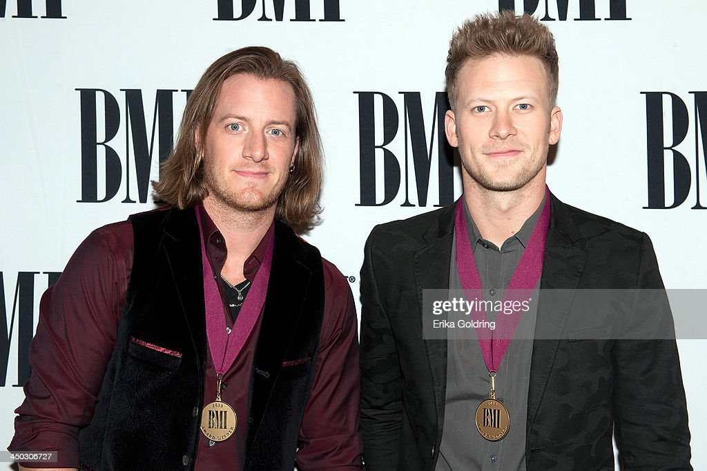 <a gi-track='captionPersonalityLinkClicked' href=/galleries/search?phrase=Tyler+Hubbard&family=editorial&specificpeople=9453787 ng-click='$event.stopPropagation()'>Tyler Hubbard</a> and Brian Kelley of Florida Georgia Line attend the 61st annual BMI Country awards on November 5, 2013 in Nashville, Tennessee.