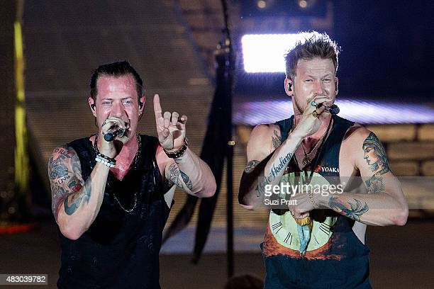 Tyler Hubbard and Brian Kelley of Florida Georgia Line perform at the Watershed Music Festival at The Gorge on July 31 2015 in George Washington
