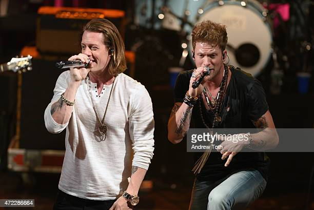 Tyler Hubbard and Brian Kelley of Florida Georgia Line perform during the 2015 Summer Spotlight Concert at Irving Plaza on May 5 2015 in New York City