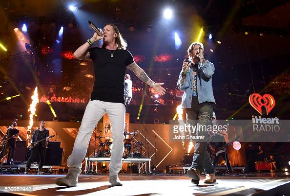 Tyler Hubbard and Brian Kelley of Florida Georgia Line perform onstage during the 2016 iHeartCountry Festival at The Frank Erwin Center on April 30...