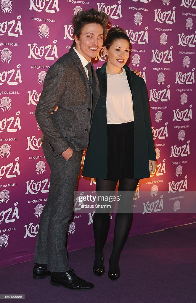 Tyler James attends the opening night of Cirque Du Soleil's Kooza at Royal Albert Hall on January 8, 2013 in London, England.