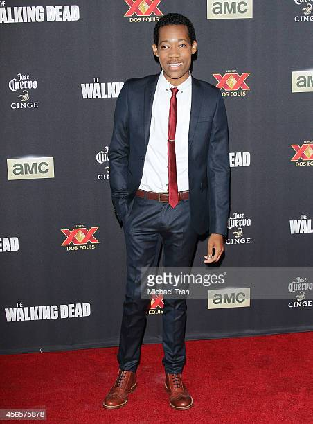 Tyler James Williams arrives at AMC's 'The Walking Dead' Season 5 Premiere held at AMC Universal City Walk on October 2 2014 in Universal City...