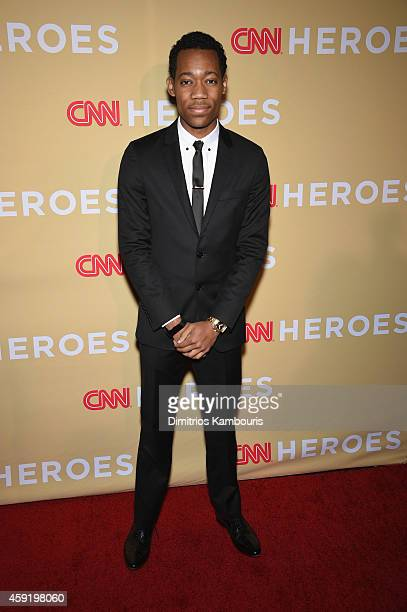 Tyler James Williams attends the 2014 CNN Heroes An All Star Tribute at American Museum of Natural History on November 18 2014 in New York City...