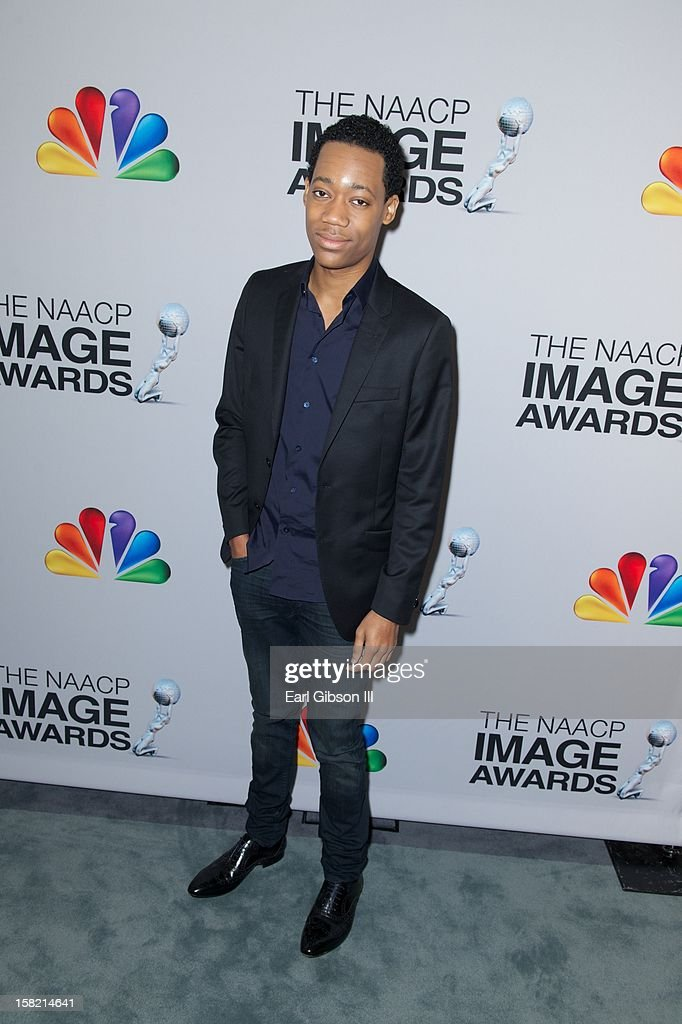Tyler James Williams attends the 44th NAACP Image Awards Press Conference at The Paley Center for Media on December 11, 2012 in Beverly Hills, California.