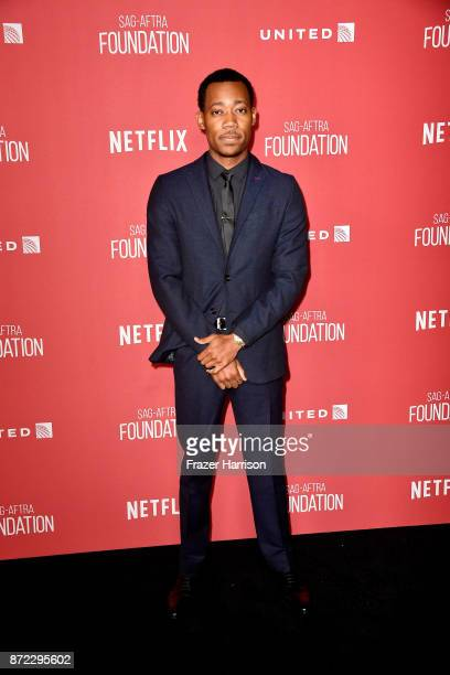 Tyler James Williams attends the SAGAFTRA Foundation Patron of the Artists Awards 2017 at the Wallis Annenberg Center for the Performing Arts on...