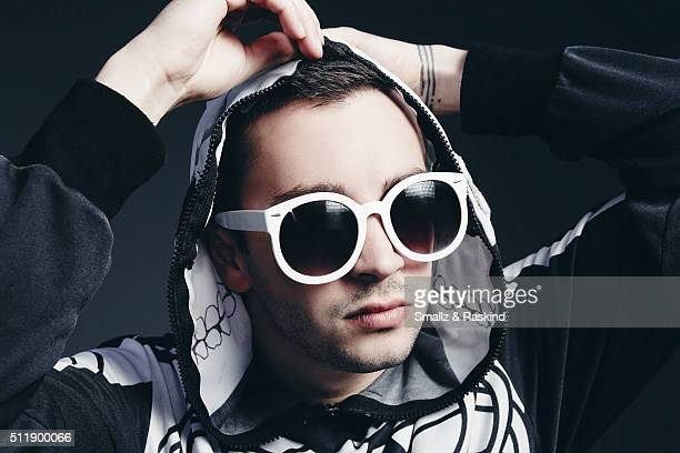 Tyler Joseph of musical duo Twenty One Pilots is photographed for Billboard Magazine on October 15 2015 in Los Angeles California ON DOMESTIC EMBARGO...