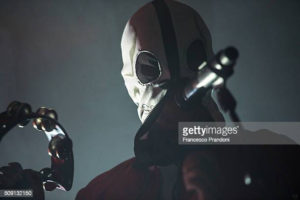 Tyler Joseph of twenty one pilots perform on February 8 2016 in Milan Italy