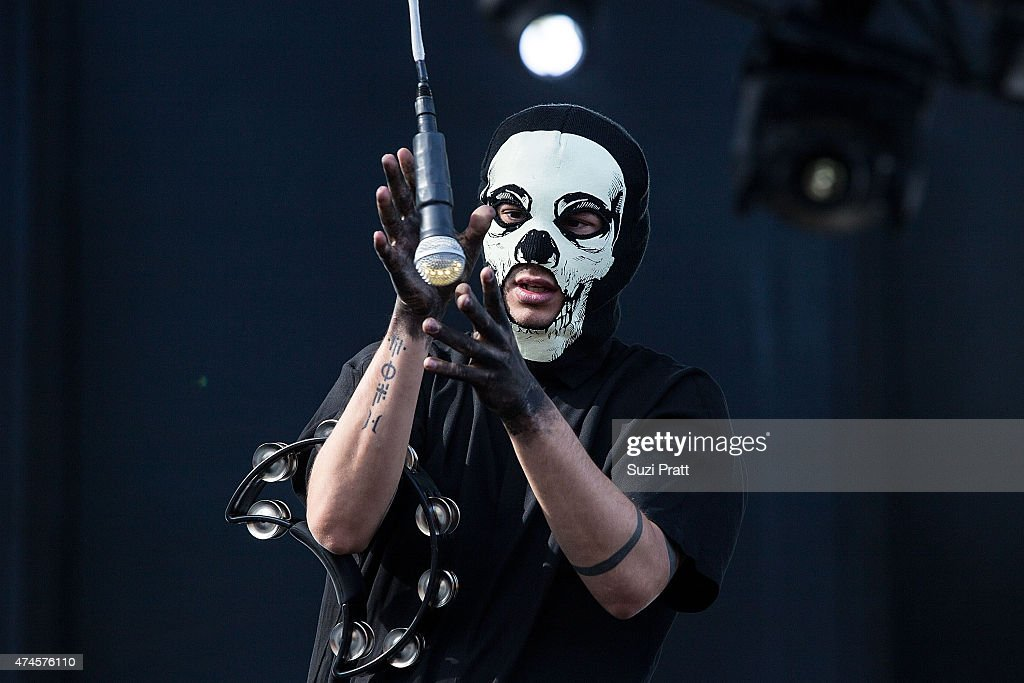 Tyler Joseph of twenty one pilots performs at the Sasquatch Music Festival at The Gorge on May 23, 2015 in George, Washington.