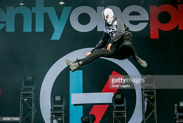 Tyler Joseph of Twenty One Pilots performs during the 2014 Music Midtown Festival at Piedmont Park on September 20 2014 in Atlanta Georgia