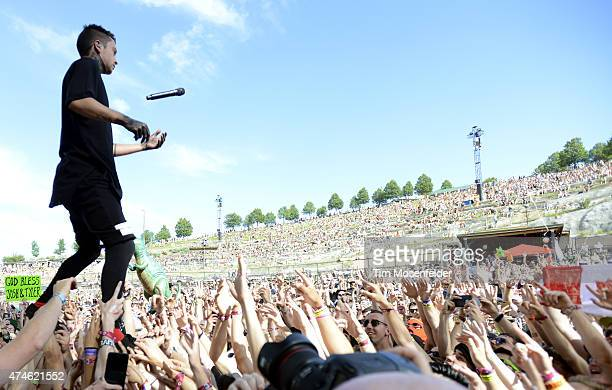 Tyler Joseph of Twenty One Pilots performs during the 2015 Sasquatch Music Festival at The Gorge on May 23 2015 in George Washington