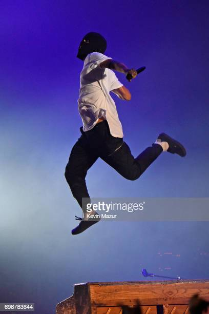 Tyler Joseph of Twenty One Pilots performs onstage during the 2017 Firefly Music Festival on June 16 2017 in Dover Delaware
