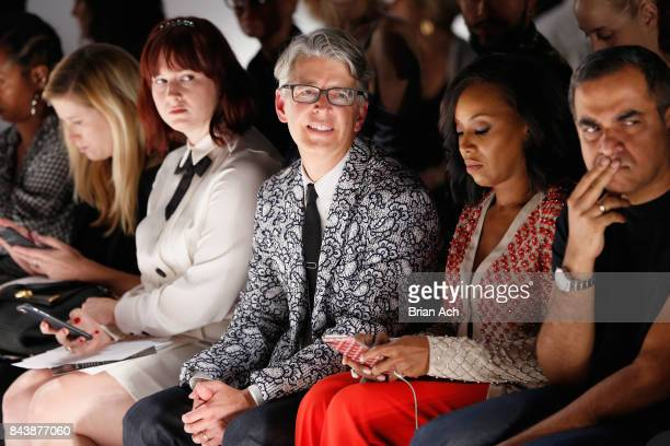 Tyler McCall Buxton Midyette June Ambrose and Bibhu Mohapatra attend Supima Design Competition SS18 runway show during New York Fashion Week at Pier...