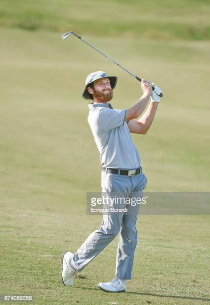 Tyler McCumber of the United States hits from the ninth fairway during the second round of the PGA TOUR Latinoamérica Honduras Open presented by...