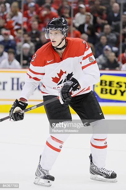 Tyler Myers of Team Canada skates during the game against Team Czech Republic at the IIHF World Junior Championships at Scotiabank Place on December...