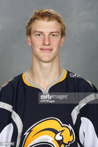 Tyler Myers of the Buffalo Sabres poses for his official headshot for the 20082009 NHL season