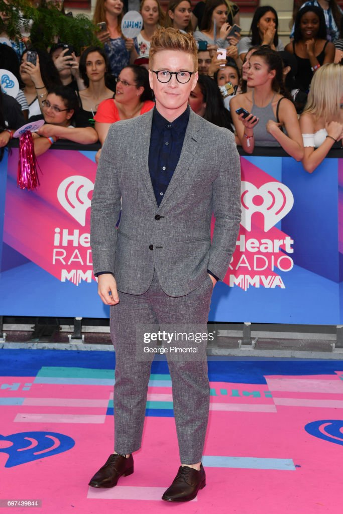 Tyler Oakley arrives at the 2017 iHeartRADIO MuchMusic Video Awards at MuchMusic HQ on June 18, 2017 in Toronto, Canada.
