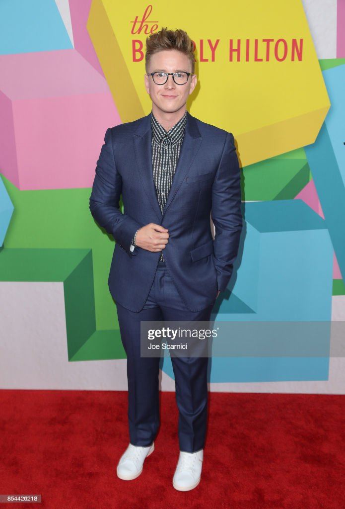 Tyler Oakley at the 2017 Streamy Awards at The Beverly Hilton Hotel on September 26, 2017 in Beverly Hills, California.