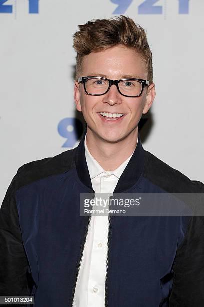 Tyler Oakley attends 92nd Street Y Presents Tyler Oakley's 'Snervous' New york Screening at 92nd Street Y on December 11 2015 in New York City