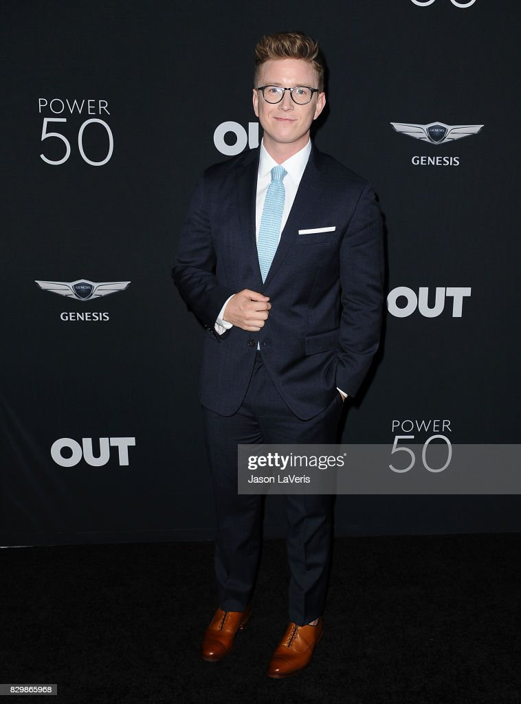 Tyler Oakley attends OUT Magazine's inaugural POWER 50 gala and awards presentation at Goya Studios on August 10, 2017 in Los Angeles, California.