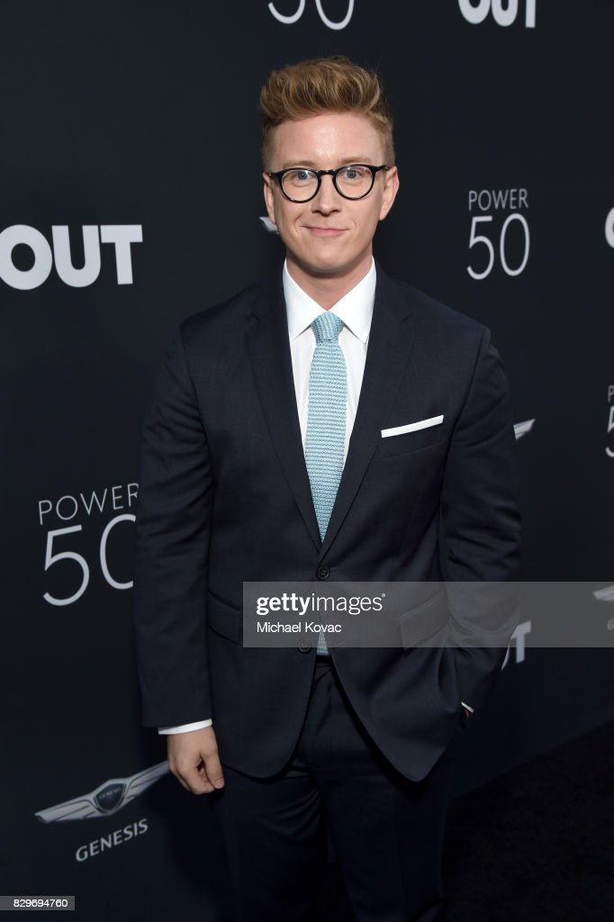 Tyler Oakley attends OUT Magazine's OUT POWER 50 gala and award presentation presented by Genesis on August 10, 2017 in Los Angeles, California.