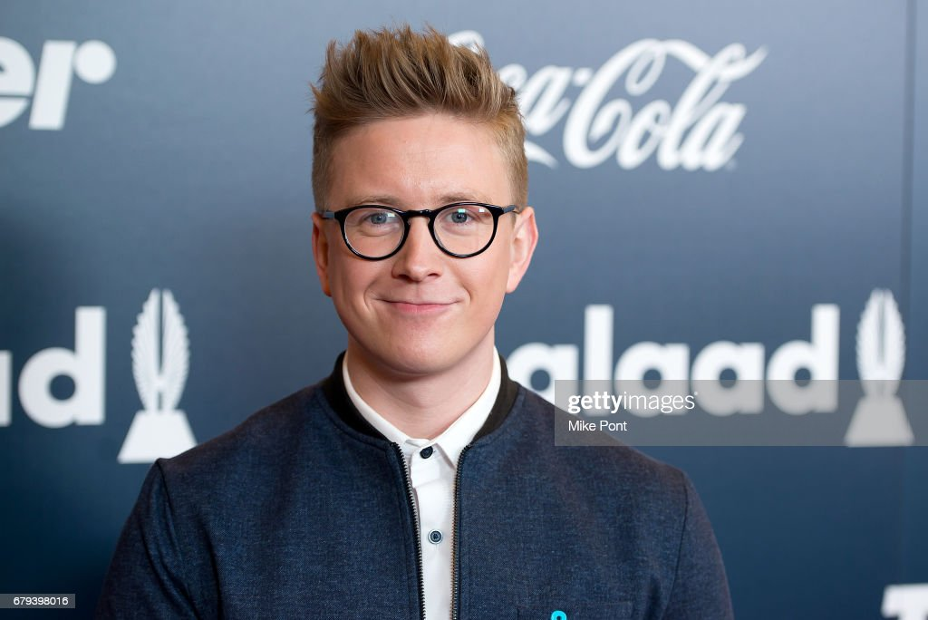Tyler Oakley attends the 2017 GLAAD Rising Stars Luncheon at The Hilton Midtown on May 5, 2017 in New York City.