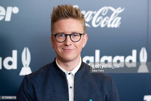 Tyler Oakley attends the 2017 GLAAD Rising Stars Luncheon at The Hilton Midtown on May 5 2017 in New York City