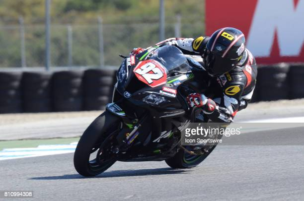Tyler Ohara Kawasaki ZX10R TOR Deehan RG Racing on the track for qualifying session at the SBK/MOTUL FIM Superbike World Championship on July 8 2017...