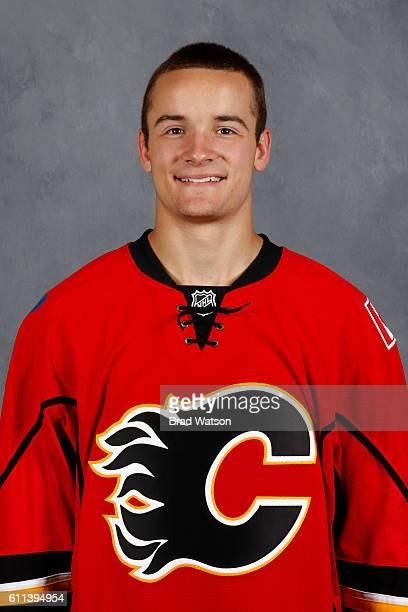 Tyler Parsons of the Calgary Flames poses for his official headshot for the 20162017 season on July 4 2016 at the WinSport Winter Sport Institute at...