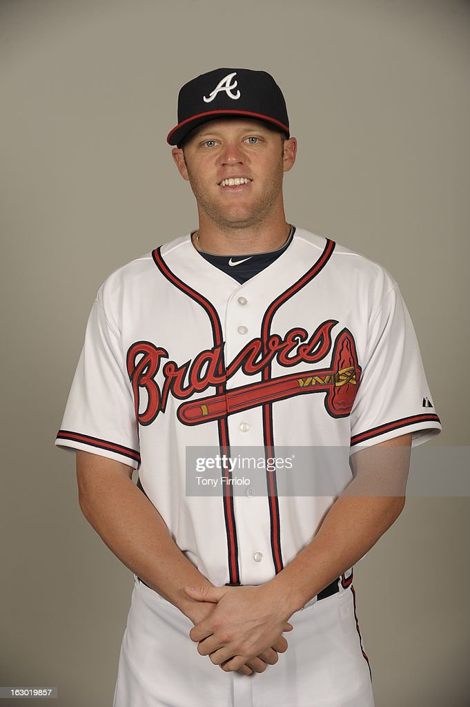 Tyler Pastornicky #1 of the Atlanta Braves poses during Photo Day on Wednesday, February 20, 2013 at Champion Stadium in Lake Buena Vista, Florida.