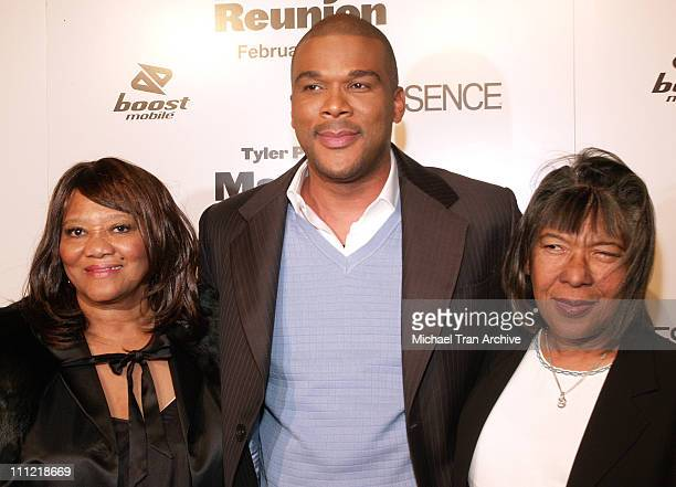 Tyler Perry and his mom Maxine and aunt Mayola