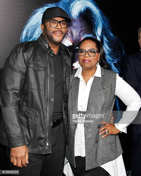 Tyler Perry and Oprah Winfrey attend the premiere of 'Boo A Madea Halloween' at ArcLight Cinemas Cinerama Dome on October 17 2016 in Hollywood...