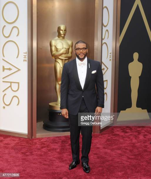 Tyler Perry arrives at the 86th Annual Academy Awards at Hollywood Highland Center on March 2 2014 in Hollywood California
