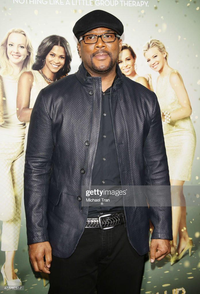 Tyler Perry arrives at the Los Angeles premiere of 'Tyler Perry's The Single Moms Club' held at ArcLight Cinemas Cinerama Dome on March 10 2014 in...