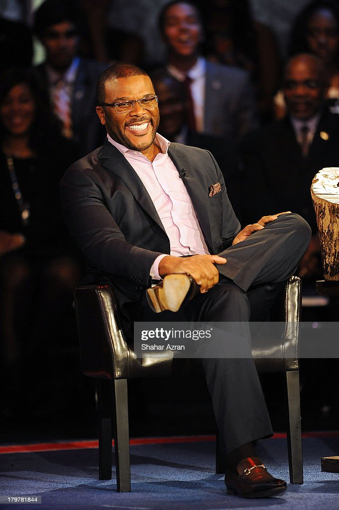 <a gi-track='captionPersonalityLinkClicked' href=/galleries/search?phrase=Tyler+Perry&family=editorial&specificpeople=678008 ng-click='$event.stopPropagation()'>Tyler Perry</a> attends 'Advancing The Dream: Live From The Apollo' Hosted By Reverend Al Sharpton at The Apollo Theater on September 6, 2013 in New York City.
