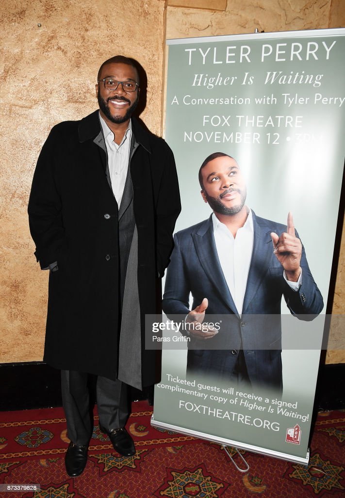 Tyler Perry attends 'Higher Is Waiting' A Conversation With Tyler Perry at Fox Theater on November 12, 2017 in Atlanta, Georgia.
