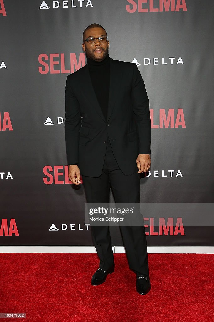 Tyler Perry attends 'Selma' New York Premiere Inside Arrivals at Ziegfeld Theater on December 14 2014 in New York City