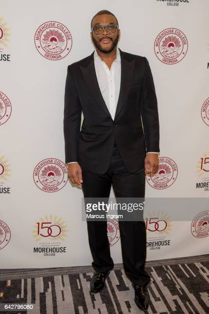 Tyler Perry attends the Morehouse College 29th annual student scholarship event at the Hyatt Regency Atlanta on February 18 2017 in Atlanta Georgia