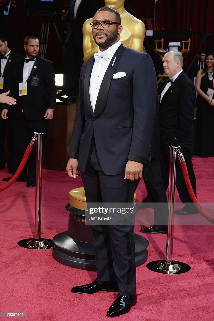 <a gi-track='captionPersonalityLinkClicked' href=/galleries/search?phrase=Tyler+Perry&family=editorial&specificpeople=678008 ng-click='$event.stopPropagation()'>Tyler Perry</a> attends the Oscars held at Hollywood & Highland Center on March 2, 2014 in Hollywood, California.