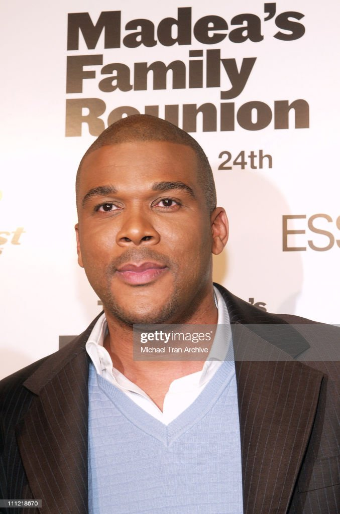 Tyler Perry during Lionsgate Presents 'Madea's Family Reunion' Los Angeles Premiere Arrivals at Cinerama Dome in Los Angeles California United States
