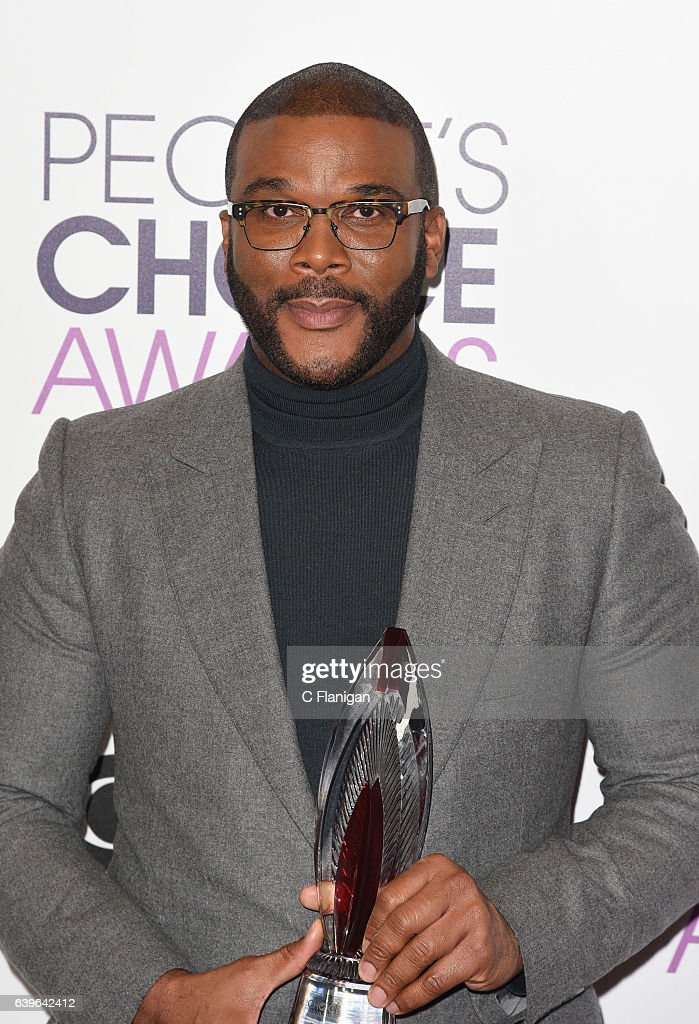 Tyler Perry poses at the People's Choice Awards 2017 at Microsoft Theater on January 18, 2017 in Los Angeles, California.