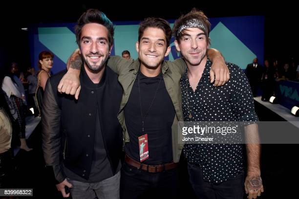 Tyler Posey and Jack Barakat and Alex Gaskarth of All Time Low attend the 2017 MTV Video Music Awards at The Forum on August 27 2017 in Inglewood...
