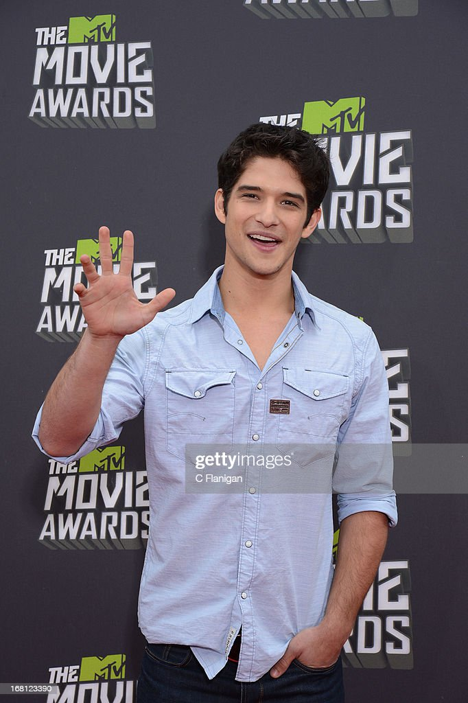 Tyler Posey arrives at the 2013 MTV Movie Awards at Sony Pictures Studios on April 14, 2013 in Culver City, California.