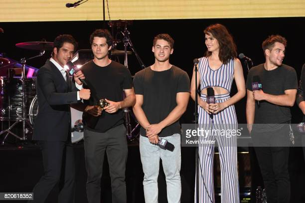 Tyler Posey Dylan O'Brien Cody Christian Shelley Hennig and Dylan Sprayberry speak onstage during MTV Fandom Fest at PETCO Park on July 21 2017 in...