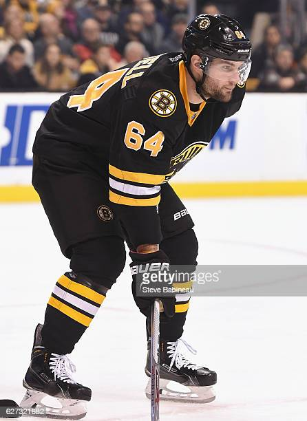 Tyler Randell of the Boston Bruins plays in the game against the Buffalo Sabres at TD Garden on December 26 2015 in Boston Massachusetts