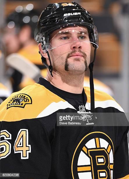 Tyler Randell of the Boston Bruins plays in the game against the San Jose Sharks at TD Garden on Novemeber 17 2015 in Boston Massachusetts