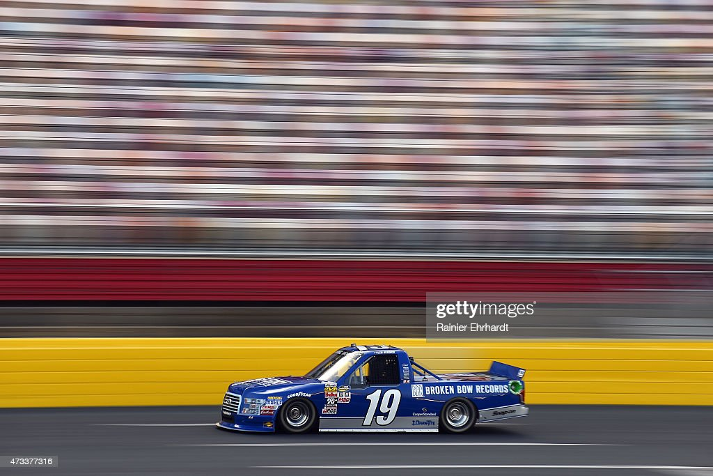Tyler Reddick driver of the BBR Music Group Ford practices for the NASCAR Camping World Truck Series North Carolina Education Lottery 200 at...