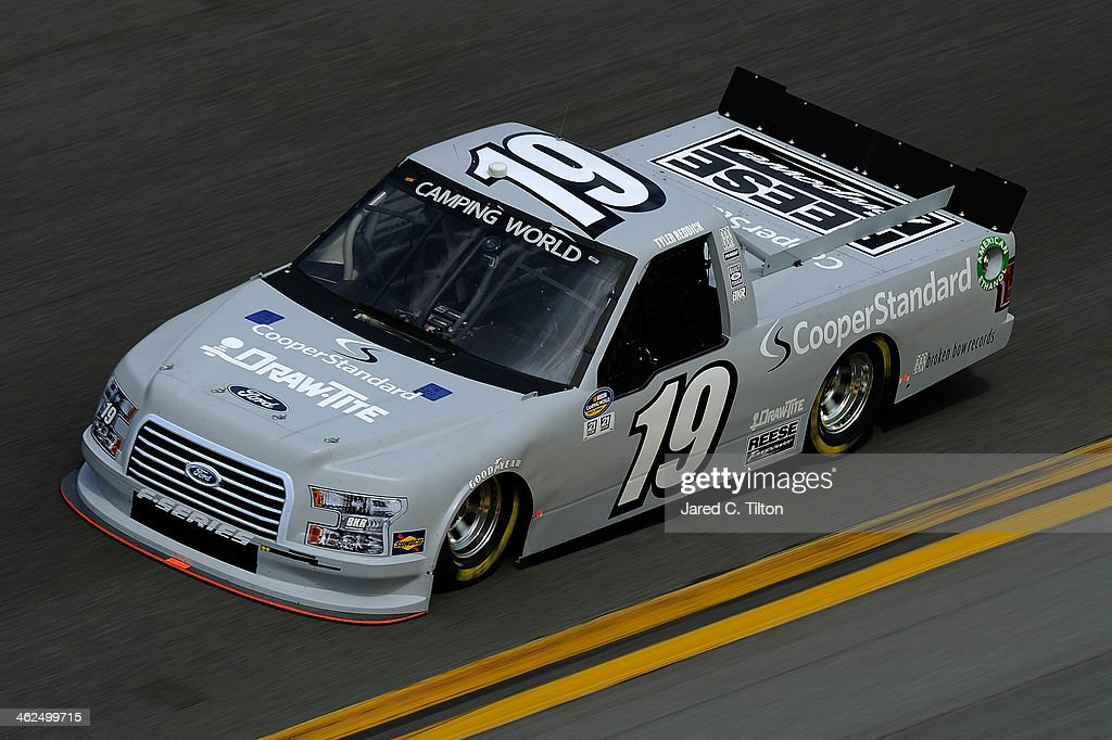Tyler Reddick drives the #19 Cooper Standard Ford during NASCAR Preseason Thunder at Daytona International Speedway on January 13, 2014 in Daytona Beach, Florida.