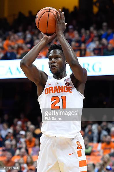 Tyler Roberson of the Syracuse Orange shoots the ball against the North Florida Ospreys during the first half at the Carrier Dome on December 3 2016...