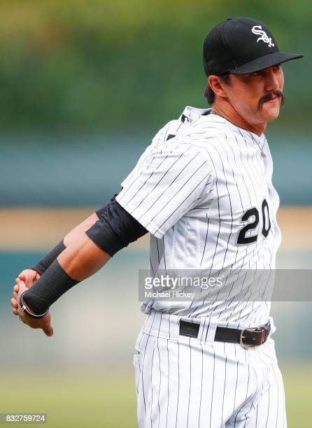 Tyler Saladino of the Chicago White Sox is seen before the game against the Toronto Blue Jays at Guaranteed Rate Field on August 1 2017 in Chicago...
